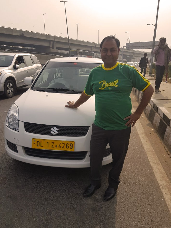 Taxi Driver India - India Tour Holidays Gurmukh Singh Private car